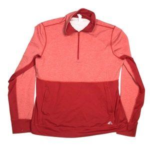 Adidas XL Twist 1/2 Zip Sweater Pullover Red
